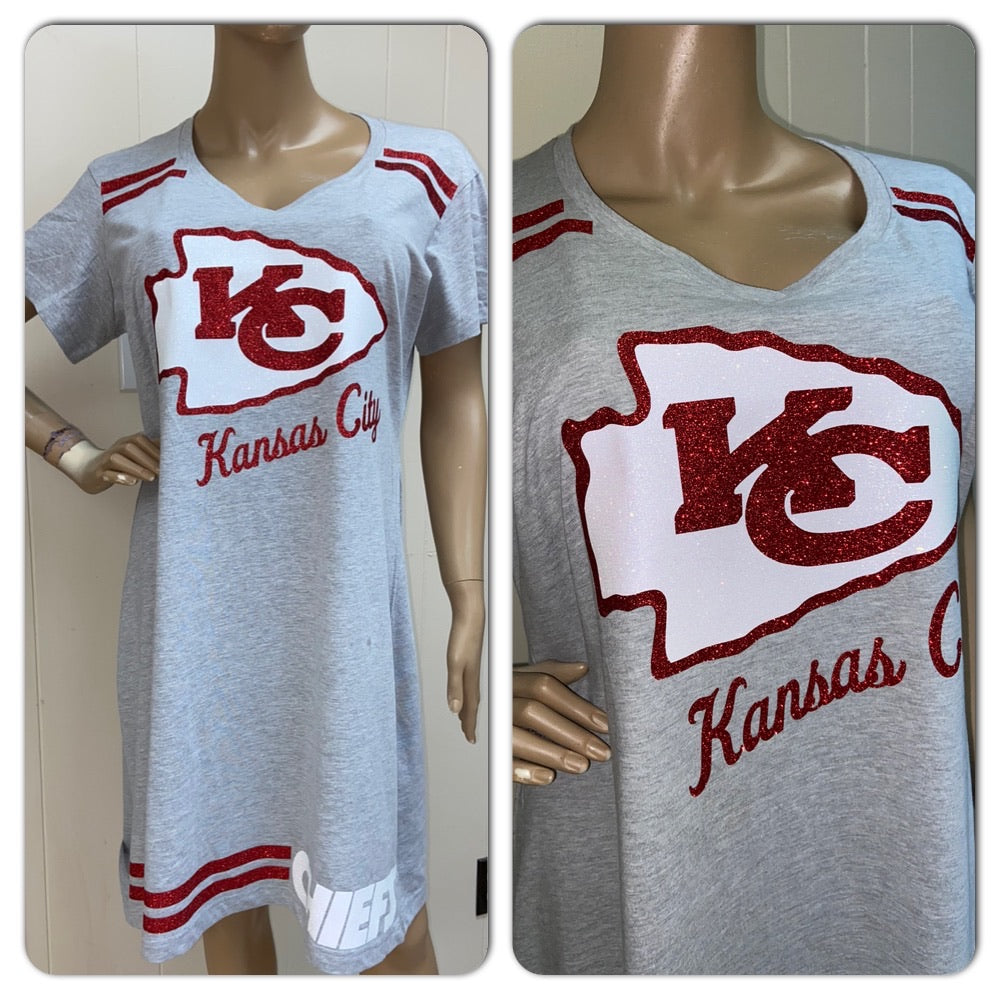 Chiefs Glam T-shirt Dress