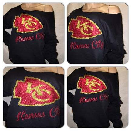Chiefs Off the Shoulder Sweatshirt