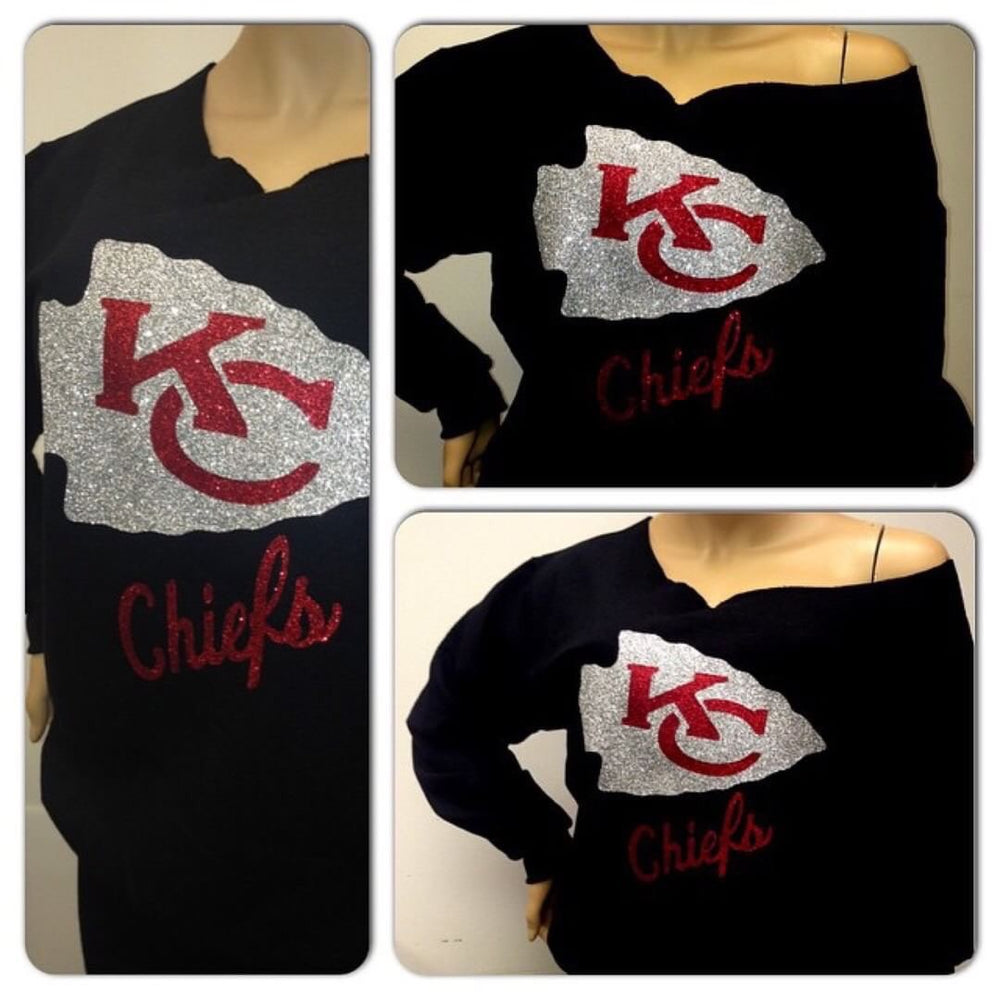 Chiefs Off the Shoulder Sweatshirt II