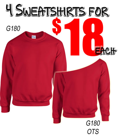 4 for 18 Sweatshirt Special