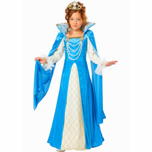 Renaissance Princess Queen Girls fancy dress Costume WITH Crown