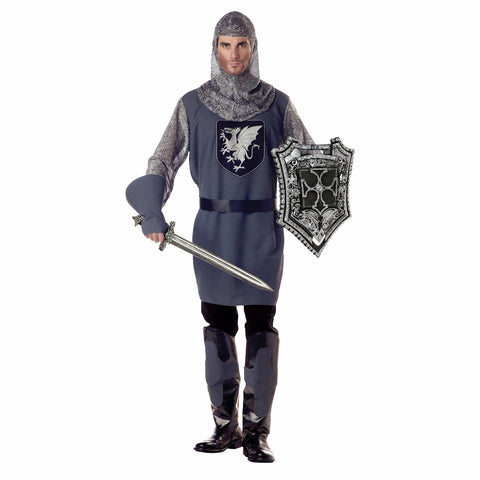 Valiant Knight Medieval Camelot men's fancy dress costume 5 piece set Deluxe