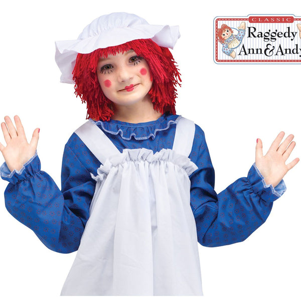 Raggedy Ann Deluxe Girls Costume with Wig Licensed Costume