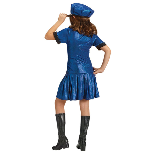 Girls Police Officer Child Fancy Dress Costume with Hat