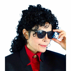 Michael Jackson 90's Wig Men's Fancy Dress Costume accessory wig
