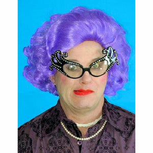 Dame Edna Purple Wig and Glasses SET