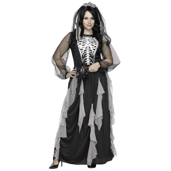 Skeleton Bride Plus Size Women's Halloween Costume