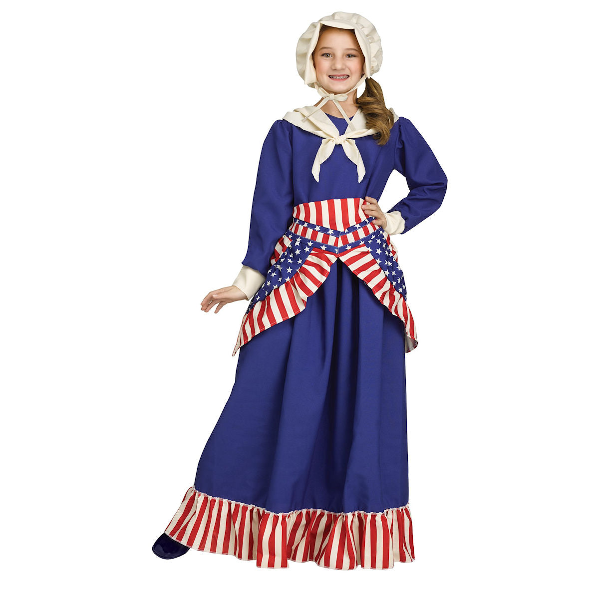Betsy Rose Colonial Pioneer Girls Fancy Dress Costume