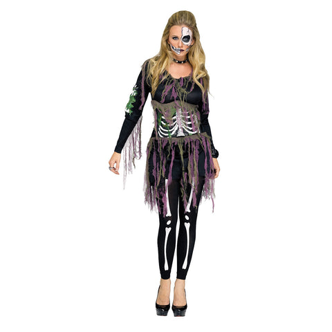3D Skeleton Day of the Dead Halloween Women's Costume