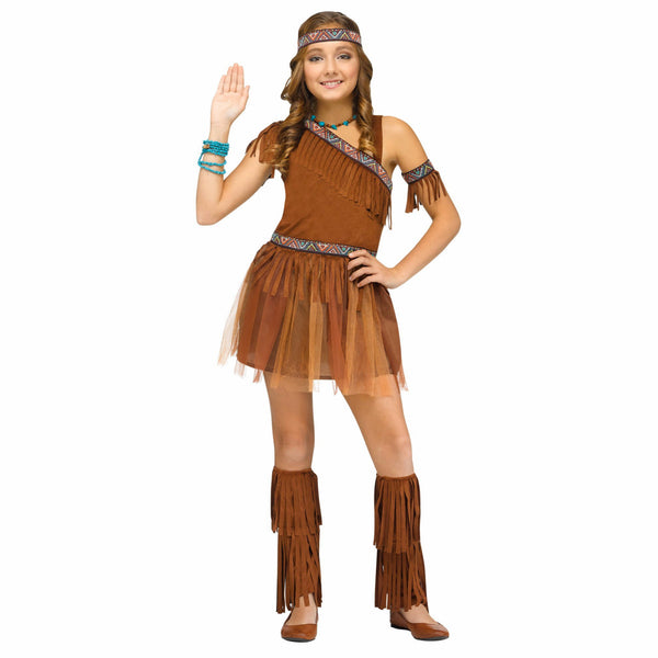 American Indian Pocahontas Girl's Halloween Party Costume