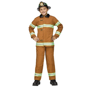 Fireman Deluxe Boy's Costume Authentic Licensed Issue