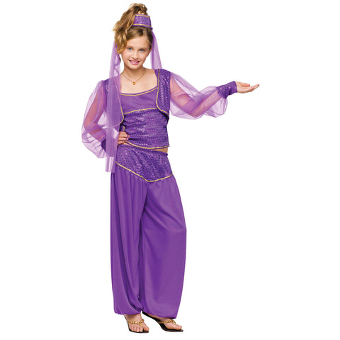 Princess Jasmine Aladdin Arabian Genie Girls Costume