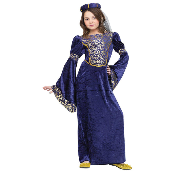 Juliet Capulet Gorgeous Renaissance Princess Girls Shakespeare Fancy Dress Costume