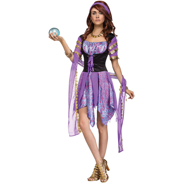 Gypsy Magic Fortune Teller Women's Fancy Dress Costume