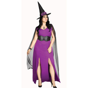 Midnight Magic Plus Size Women's Witch Halloween Costume
