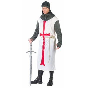 "Medieval Templar Knight Men's Fancy Dress Costume Fits to 42"" chest"
