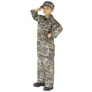 Commando Army Soldier ACU Scatter Camoflauge Boy's Costume Authentic Issue