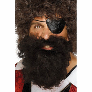 Deluxe Pirate Beard and Moustache Brown Costume Accessory