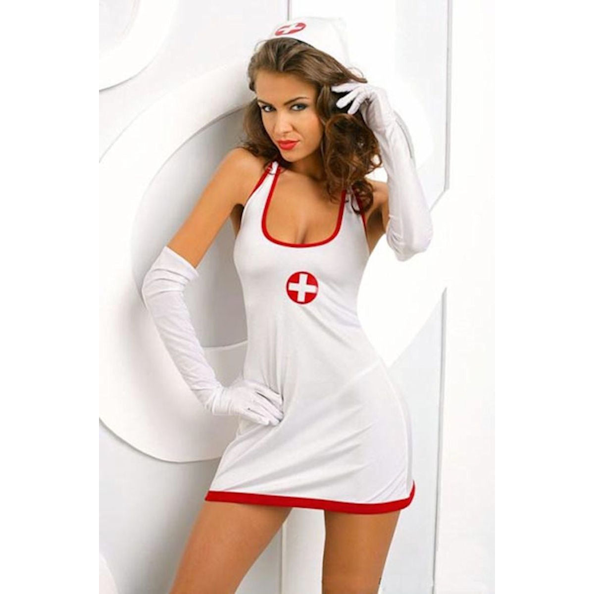 Sexy NURSE COSTUME 5 piece set  with GLOVES