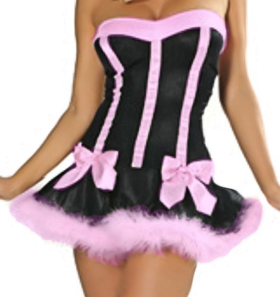 Sexy PUSSY CAT Costume SET Dress & Ears Women's Costume