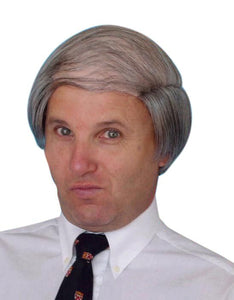 Tragic Comb-over Semi Bald Wig Grey Hair Costume accessory