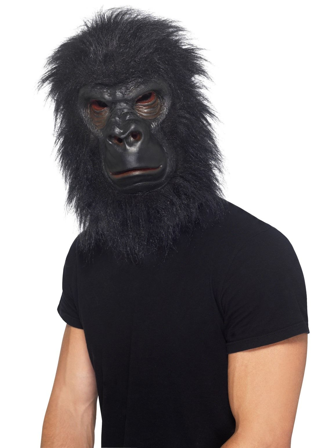 Gorilla Ape Mask Foam Latex with Black Hair Costume Accessory Halloween