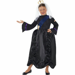 Queen Victoria Horrible Histories Girl's Costume with Headpiece