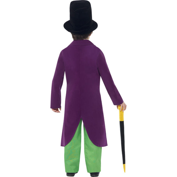 Roald Dahl Willy Wonka Children's Costume with Hat and Cane
