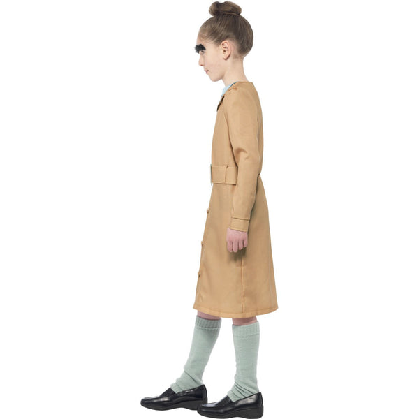 Roald Dahl Miss Trunchbull Children's Costume with Leg Warmers & Eyebrows