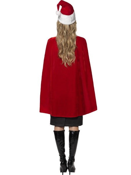 Red Cape Velvet with Hat Christmas Santa Cape