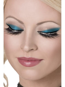 Glamour Eyelashes Black, with Crystals including Glue