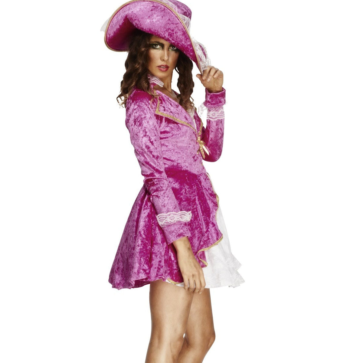 Pirate's Treasure Women's Costume Pink with Hat