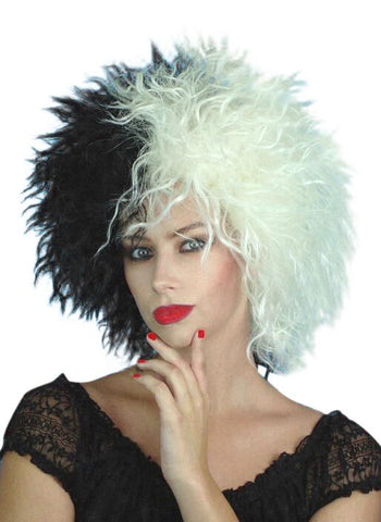Cruella Deville Deluxe Wig Black and White