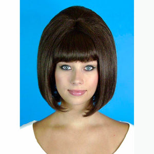 60's Beehive Hairspray Brown Wig