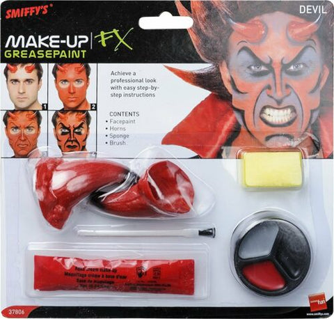 Devil Demon Make up Kit with Horns