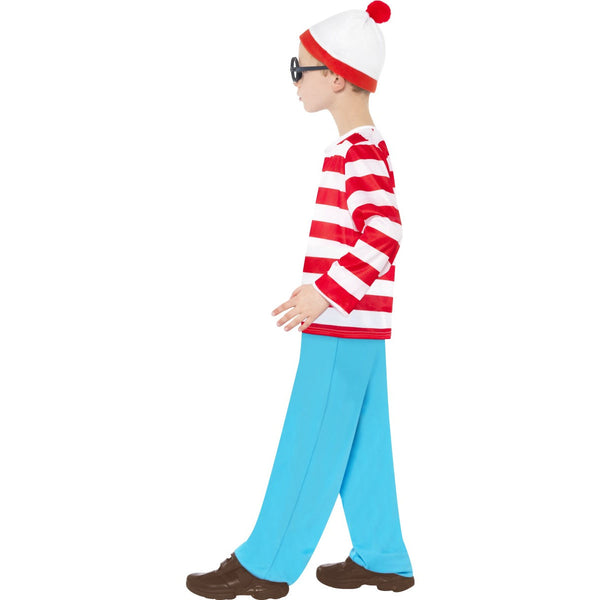 Where's Wally Children's Costume with Glasses and Hat - Licensed