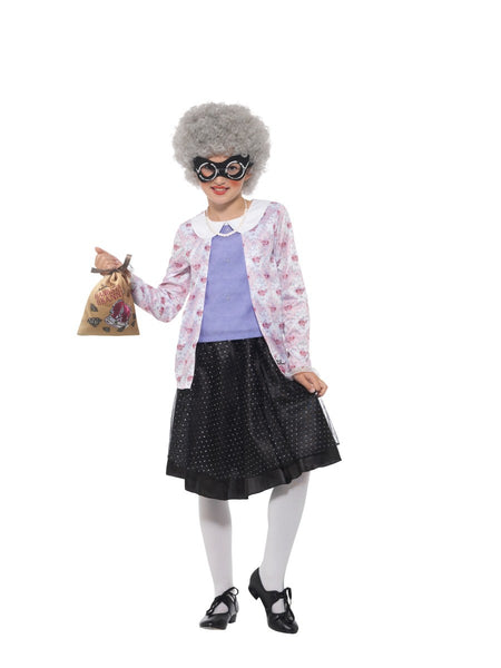 Gangsta Granny Deluxe Costume David Walliams Child Costume with Wig