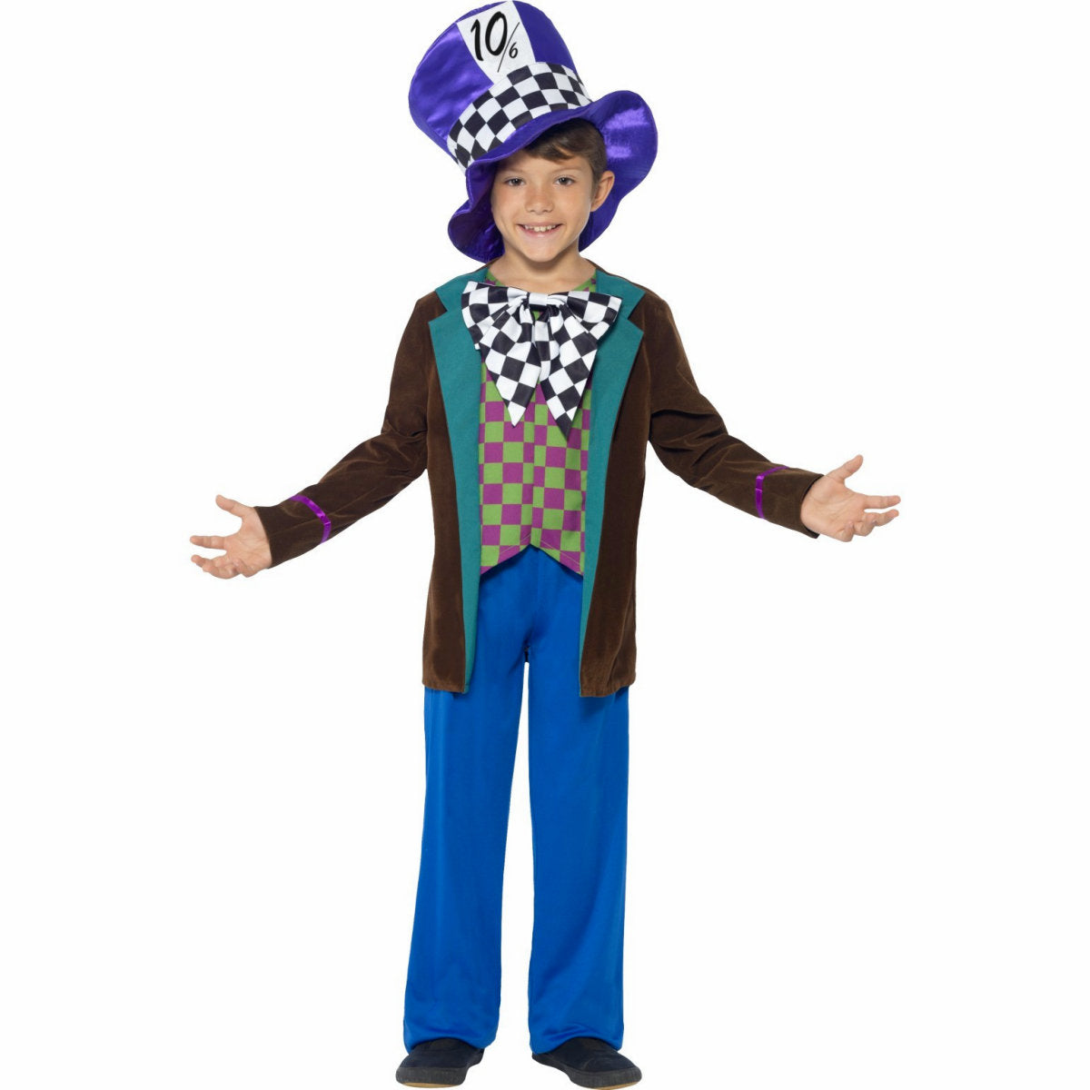 Deluxe Mad Hatter Boy's Children's Costume with Hat