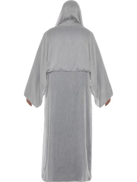 Grim Reaper Men's Costume, Grey, with Gown & Half Face Mask