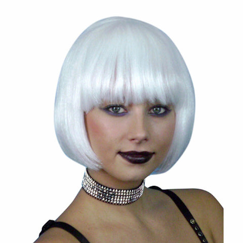White Short Bob Deluxe WIG Festival Fancy Dress Costume Wig