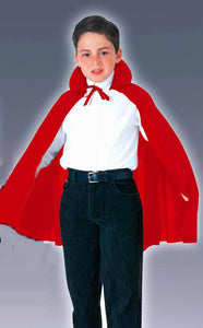 "Cape RED Vampire 27"" Long - CHILD Fancy Dress Costume One size fits most - Nylon"