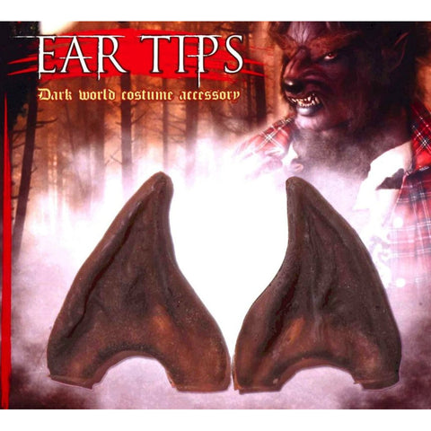 EAR TIPS Fake Werewolf Animal brown wolf fancy dress costume accessory makeup