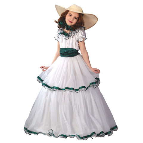 Southern Belle Scarlet O'Hara Gone with the Wind Girls Costume