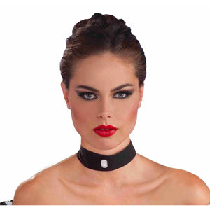 Velvet Choker with Gem Necklace Goth Burlesque Moulin Rouge Costume Accessory
