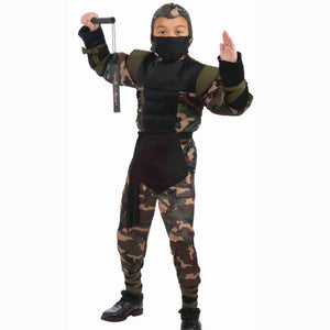 Secret Strike Force Ninja Boys Fancy Dress Costume Children