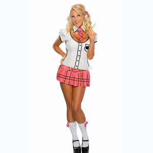 Sexy School Girl Teacher's Pet Women's Fancy Dress Costume