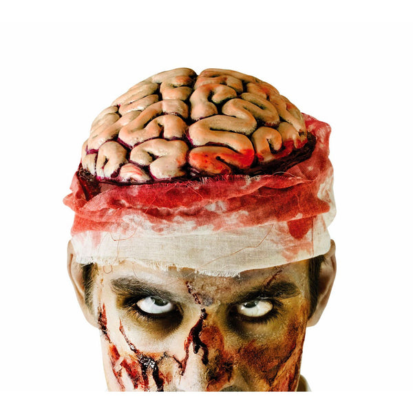 Bloody Brain Zombie Halloween Headpiece Fancy Dress Costume Accessory