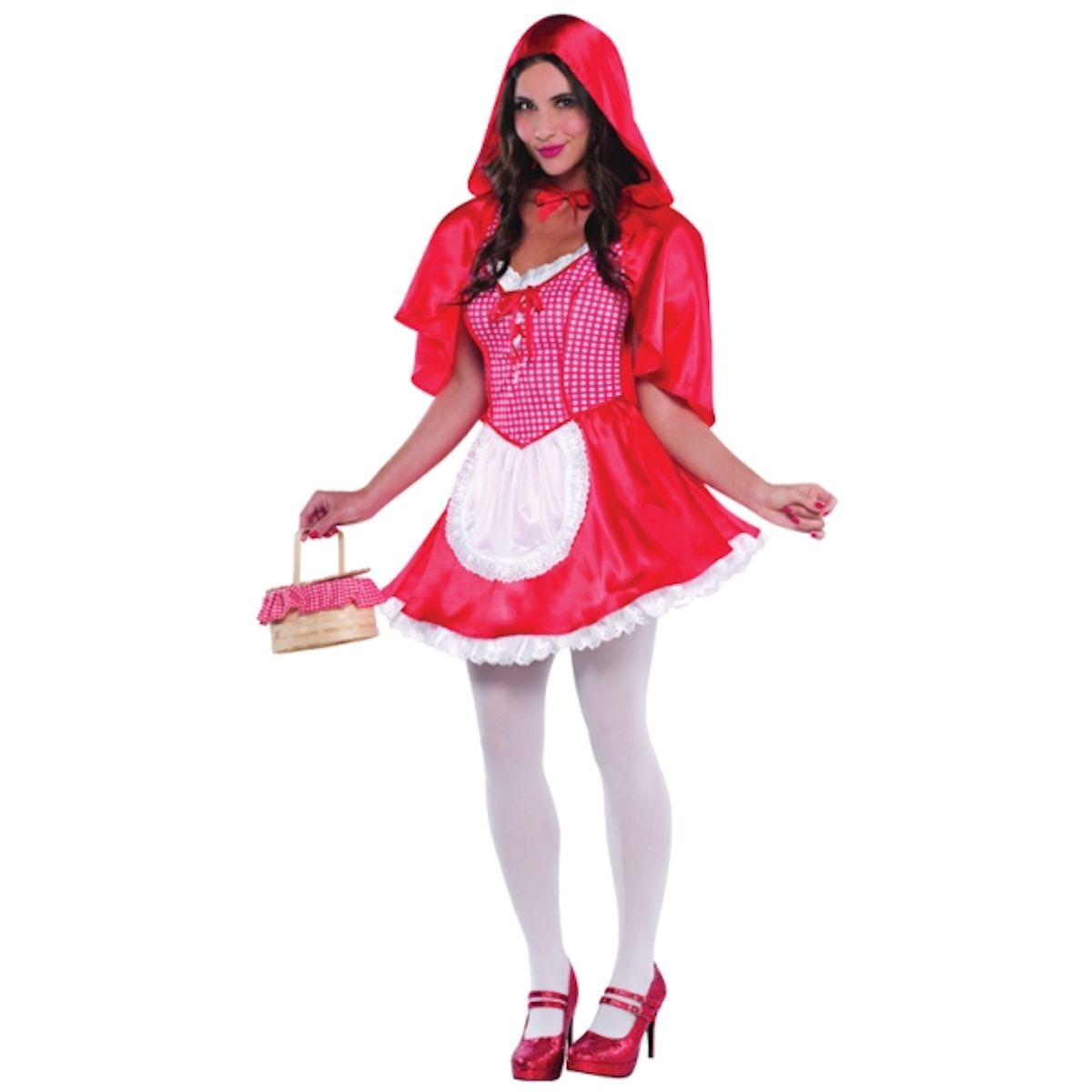 Miss Red Riding Hood Adult Women's Fancy Dress Costume