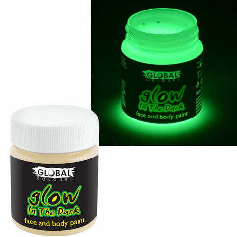 Glow in the Dark Theatrical Special FX Makeup Face & Body  Halloween 45ml Global