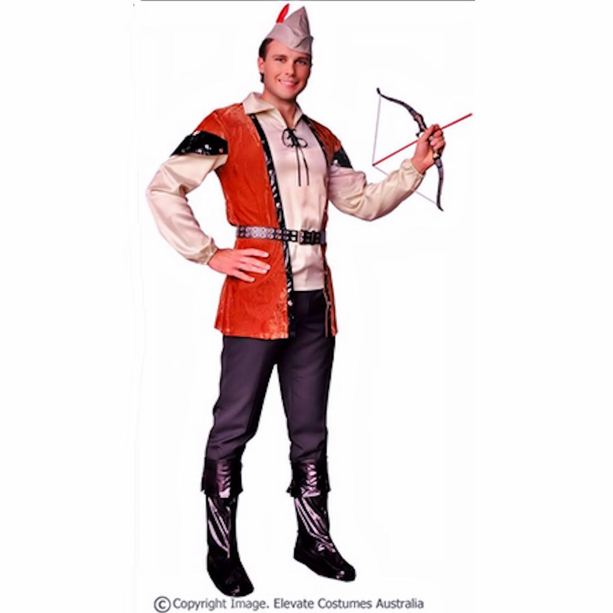Robin Hood Prince of Thieves Men's Deluxe Fancy Dress Costume 6 piece set